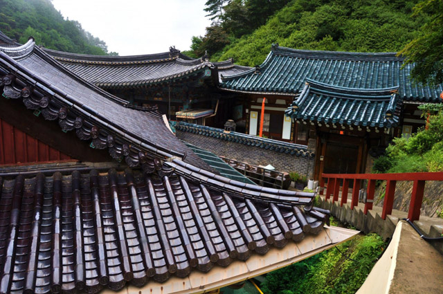 Крыши домов в Кореи