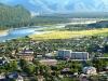 Абаза находится в 179 км от города Абакан и в 144 км от одноименной реки. Сейчас в нем проживает 17 тысяч человек