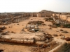 К сожалению, на сегодняшний день Абу-Мена мало чем напоминает былые постройки. От них остались всего лишь небольшие руины. В середине VII века в Египет пришли мусульмане, которые до основания разрушили прекрасный город. Конечно, некоторые архитектурные объекты все же остались.