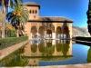 Свое название дворец приобрел благодаря произнесению испанцами на свой лад мавританских слов. Изначально дворец в переводе с мавританского языка назывался красный дворец.