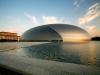 Отметим, что в качестве архитектора для этого проекта был выбран Поль Андре, который решил привнести частицу современного архитектурного искусства в Пекин – город, полный традиционной восточной архитектуры. Очевидно, его задумка возымела должный эффект, и сооружение удалось. Оно было открыто для зрителей в 2007 году после 6 лет строительных работ.