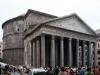 Пантеон был сооружен в 27 веке до н. э. Изначально он строился как нимфеум, некое подобие бассейна. И только лишь во 2 веке Пантеон был преобразован в храм для всех богов. Именно в таком виде он существует и сейчас. В 7 веке здание было отдано христианской церкви. А над дверью сделали надпись, гласящую, что каждый, кто придет помолиться в храм, получит отпущение грехов.