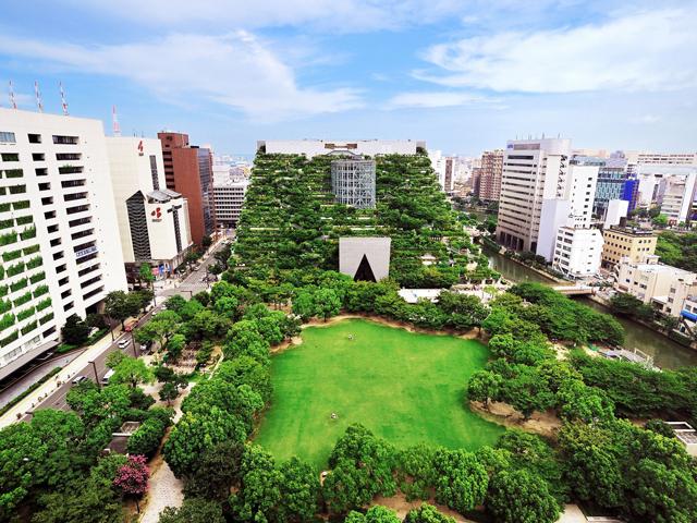 Конечно, японцы всегда умели создавать необычные сады, которые радуют глаз. Но этот дом-сад стал воистину самым неповторимым, ведь деревья здесь растут на высоте шестидесяти метров.