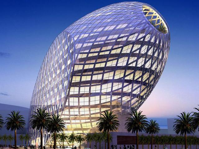 В основе здания лежит концепция представления мира как экосистемы для развития жизни. Здание настолько наполнено самыми высокотехнологичными интеллектуальными приборами, что контролирует всё, вплоть до изменения состояния здоровья сотрудников.