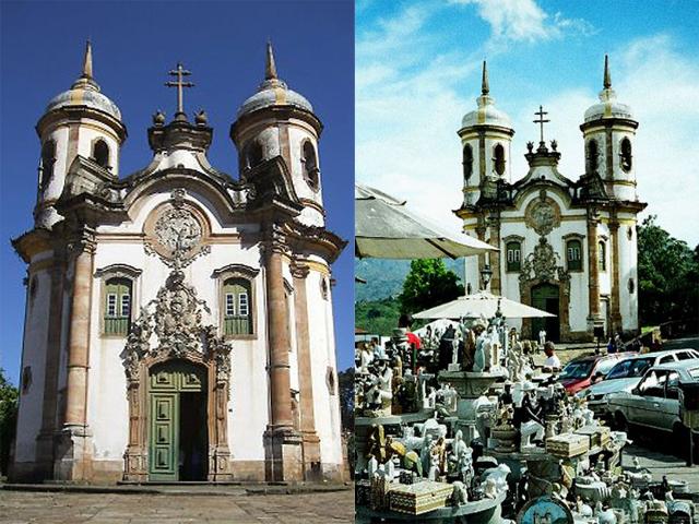 Построена церковь в стиле бразильского рококо. Строительные работы начались в 1766 году.