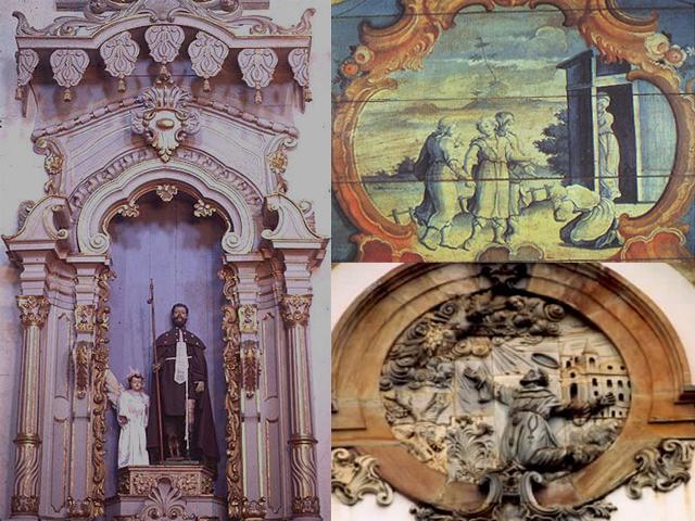 Он украсил свое детище роскошным фасадом, выполнил наружные и внутренние резные работы. Наиболее примечательным стал круглый барельеф, на котором изображен святой Франциск Ассизский.