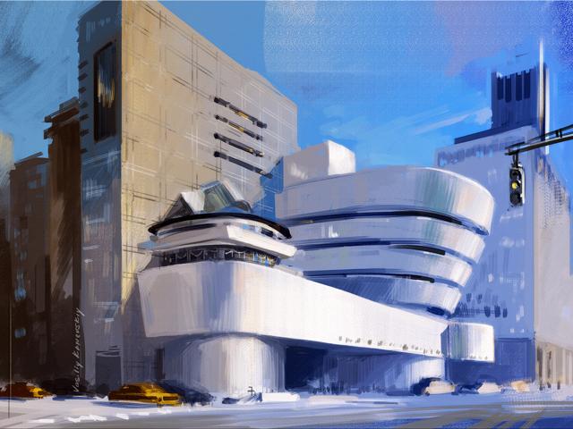 Авторами этого сооружения в Нью-Йорке выступили Кадзуо Седзима и Нисидзава, которые в 2010 году удостоились Прицкеровской архитектурной премии за свое творение. Кстати говоря, премия является одной из престижнейших наград в сфере архитектуры и дизайна.
