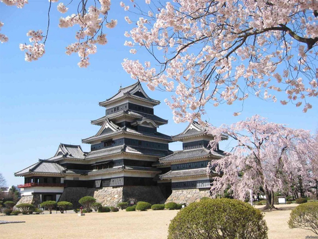 Замок был сооружен еще во времена «Воюющих царств». Именно тогда его решил построить один из кланов – Огасавара. Название замка звучало как Фукаши-Джо. В ходе своей нелегкой истории сооружение постоянно переходило от одного владельца к другому, меняя кланы.