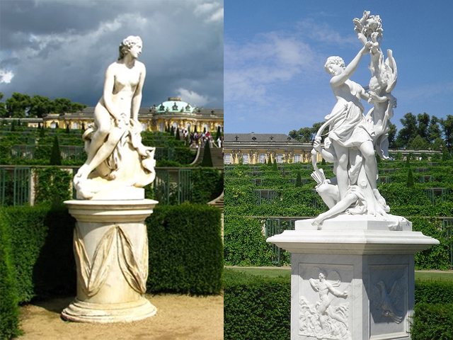 Рококо не зря был выбран из списка других, ведь он сочетает в себе романтику и полную гармонию с природой. Разрабатывали проект здания два года, с 1745 по 1747. Сам король приложил к этому делу столько своих идей, что архитекторы назвали этот новый стиль «фредерианское рококо».