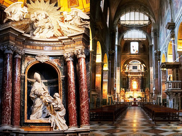 К особо почитаемым святыням относится рака, в которой хранятся мощи матери Августина – святой Моники. За несколько столетий храмовая сокровищница значительно пополнилась бесценными экспонатами: картинами, фресками, скульптурами.