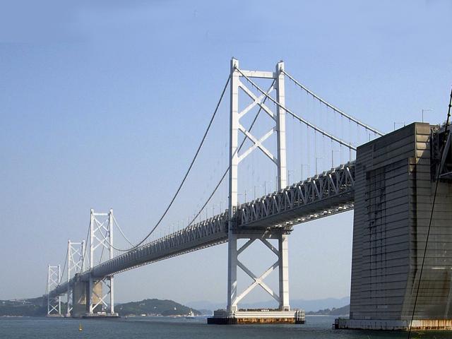 Южный Бисан является самым длинным. Его длина составляет 1118 м, поэтому он занимает на данный момент одиннадцатое место в мире среди навесных мостов.