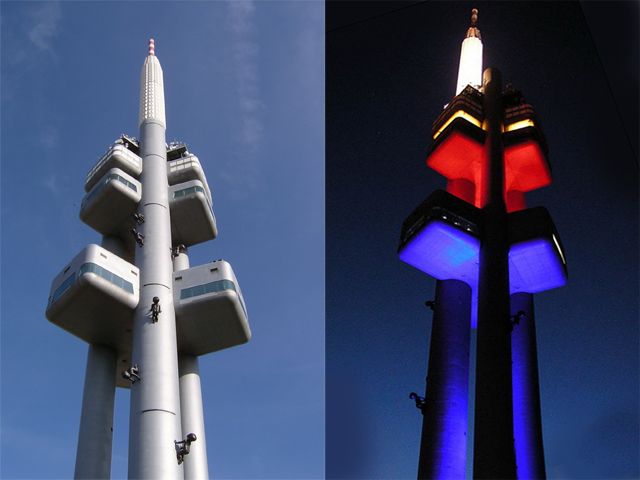 Как известно, эта телевизионная башня появилась в коммунистическую эпоху, и жители Праги невзлюбили ее с первого дня. Возможно, это тот самый «синдром Эйфелевой башни», которая, как известно, понравилась парижанам тоже далеко не сразу.