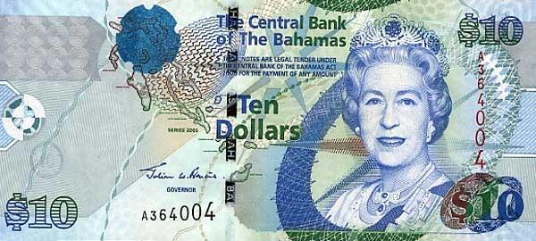 Содружество Багамы - валюта Багамский доллар