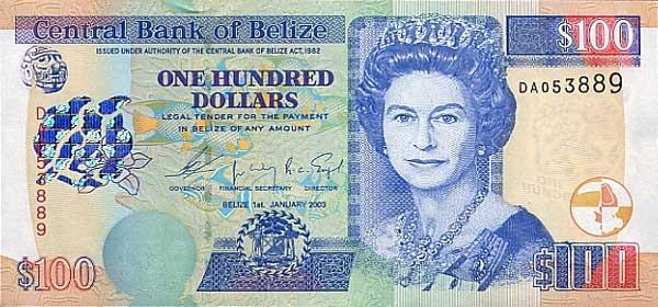 Королевство Белиз - валюта Белизский доллар