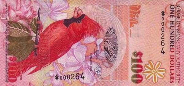 Заморская территория Великобритании Бермуды - валюта Бермудский доллар
