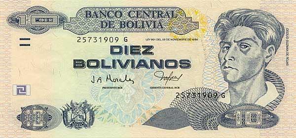 Республика Боливия - валюта Боливиано
