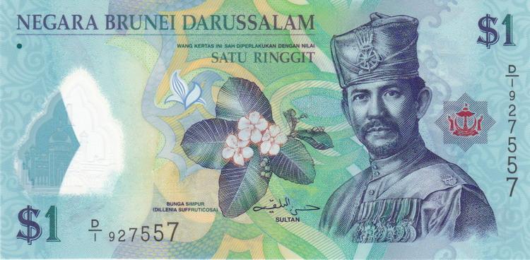 Валюта Брунея - брунейский ринггит (доллар)