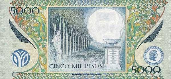 Республика Колумбия - валюта Колумбийский песо