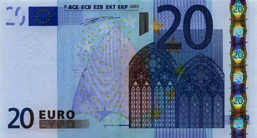 Номинальный ряд валюты ЕВРО - 20