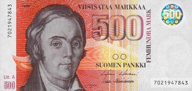 Республика Финляндия - валюта Финская марка (евро)
