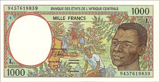Республика Габон - валюта Франк КФА