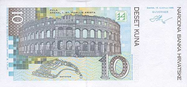Республика Хорватия - валюта Хорватская куна