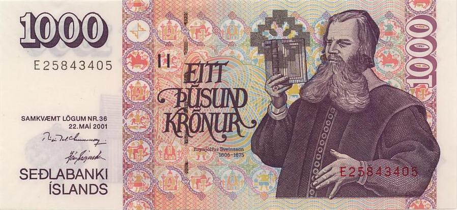 Республика Исландия - валюта Исландская крона