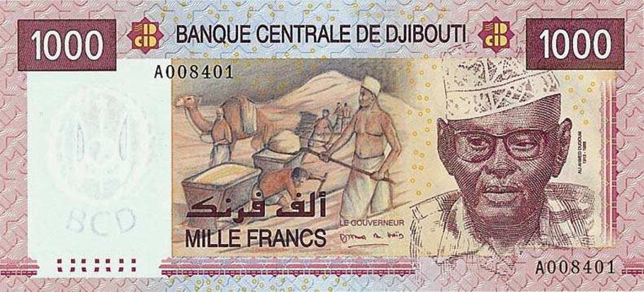 Республика Джибути - валюта Франк Джибути