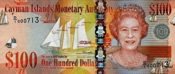 Британская колония Каймановы Острова - валюта Кайманский доллар