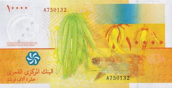 Объединение Коморо - валюта Коморский франк
