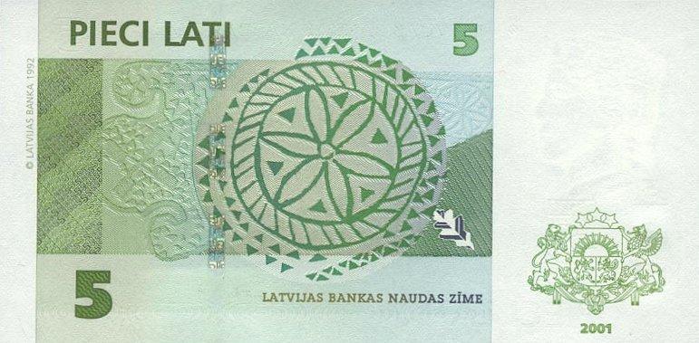 Республика  Латвия - валюта Латвийский лат