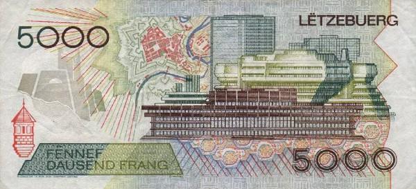 Великое Герцогство Люксембург - валюта Люксембуржский франк (евро)