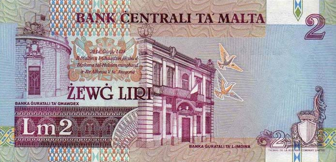 Республика Мальта - валюта Мальтийская лира (евро)