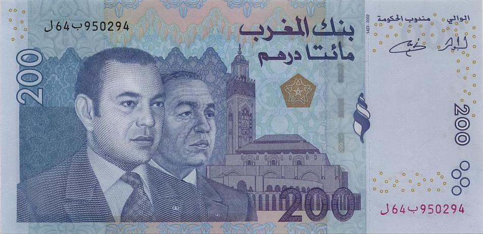 Королевство Марокко - денежная единица Марокканский дирхам