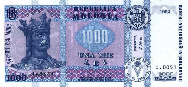 Республика Молдова - валюта Молдавский лей