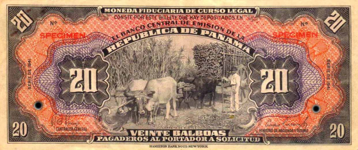 Республика Панама - валюта Бальбоа