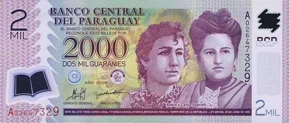 Республика Парагвай -валюта Гуарани