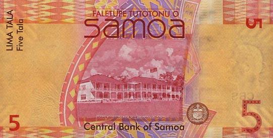 Независимое Государство Самоа - валюта Тала