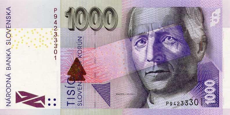 Республика Словакия - валюта Словацкая крона (евро)