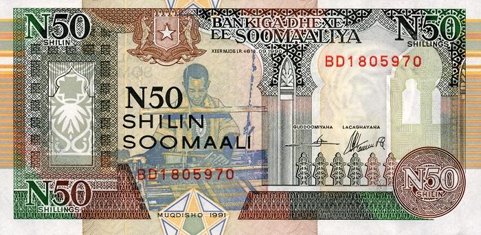 Демократическая Республика Сомали - денежная единица Сомалийский шиллинг