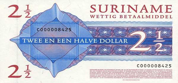 Республика Суринам - валюта Суринамский доллар