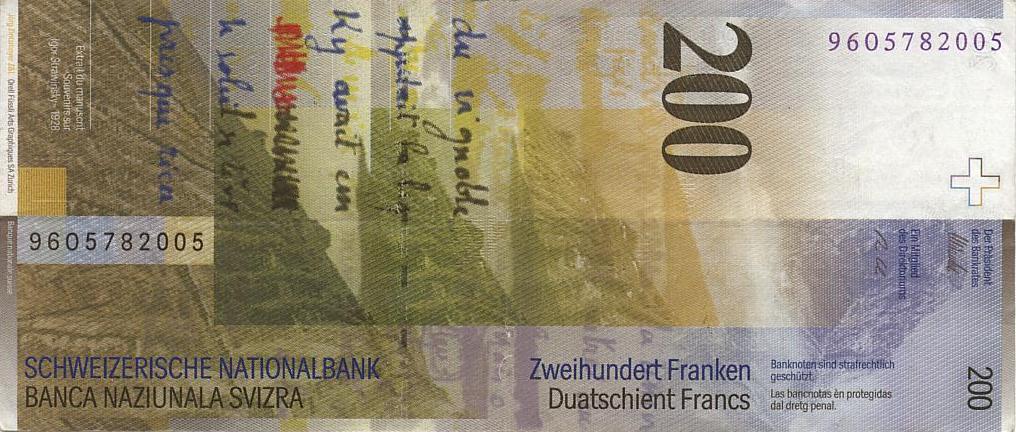 Конфедерация Швейцария - валюта Швейцарский франк