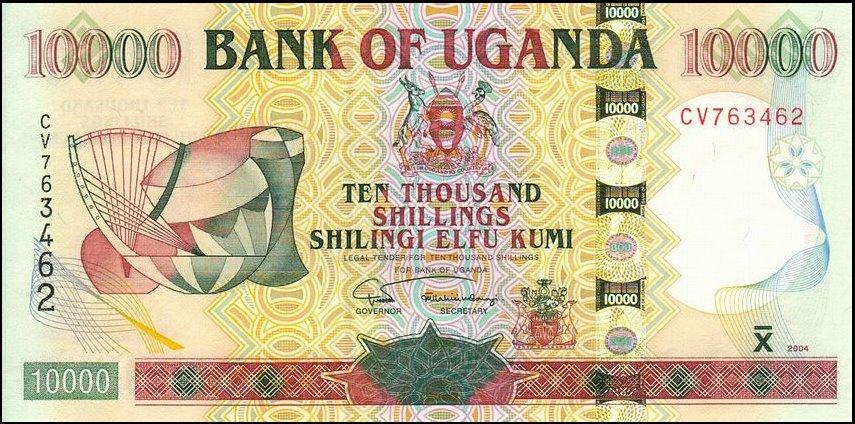 Республика Уганда - денежная единица Угандийский шиллинг