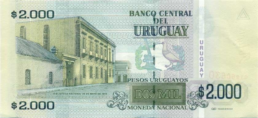 Республика Уругвай - валюта Уругвайский песо