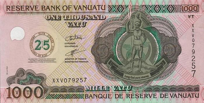 Республика Вануату - валюта Вату