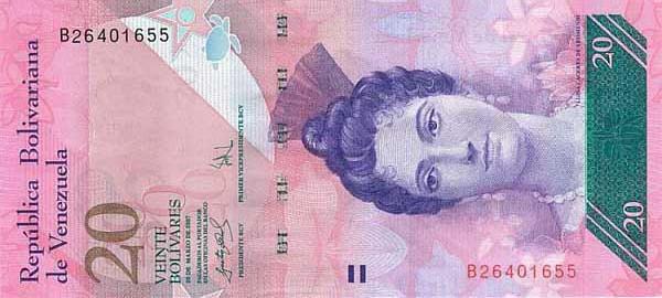 Республика Венесуэла - валюта Боливар