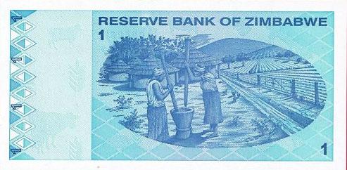 Республика Зимбабве - валюта Зимбабвийский доллар