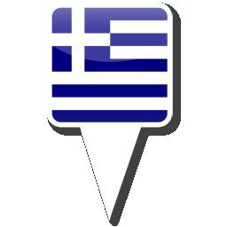 Флаг Республики Греция - валюта Греческая драхма (евро)