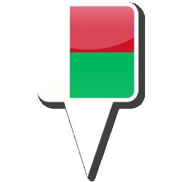 Флаг Республики Мадагаскар