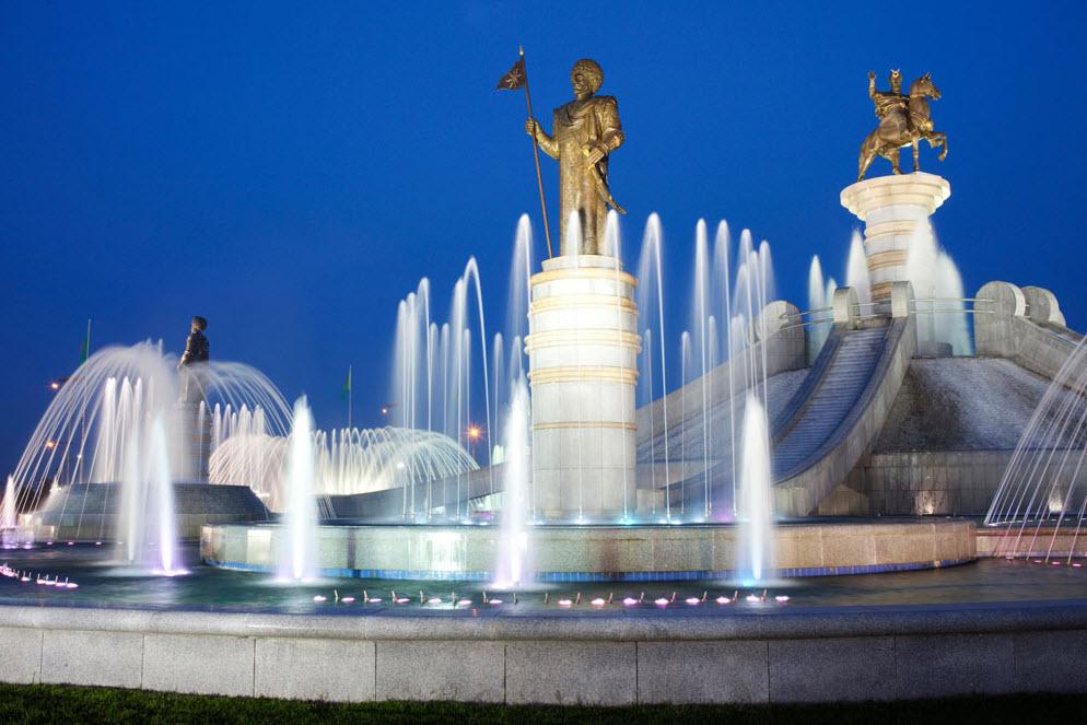 Ашхабад – столица Туркменистана.  Среди других крупных городов страны: Ташауз, Чарджоу, Марах, Балканабат, Туркменбаши и пр.